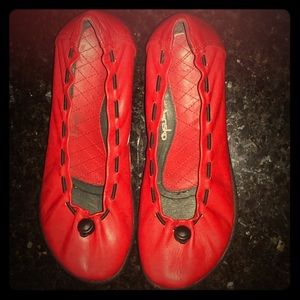 DANSKO Gracie Red Leather Ballet Flat US 7/EU 37